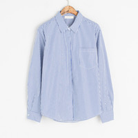 Stripe Oxford Shirt, Blue