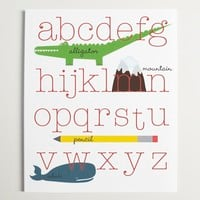 Supermarket: ABC's Alphabet Wall Art - 11