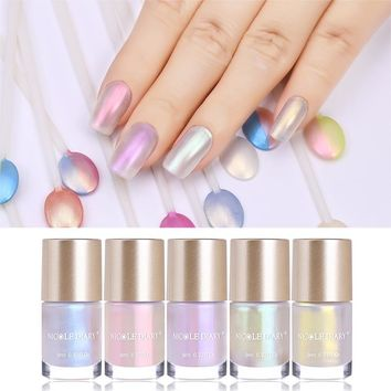 NICOLE DIARY 9ml Nail Polish Jelly Holographic Metallic Thermal Lacquer Shiny Flakies Sequins Manicure Nail Art Lacquer Varnish