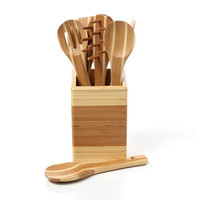 PAO! Bamboo 8 Piece Complete Utensil Set