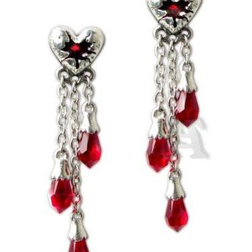Bleeding Heart Pair of Earrings by Alchemy Gothic