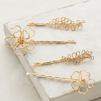 Golden Blossom Bobby Set by Anthropologie Gold One Size Hair