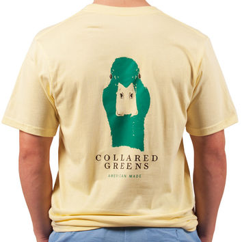 American Made Mallard Tee in Yellow by Collared Greens
