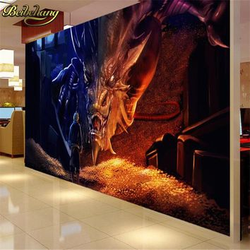 beibehang Hobbit dragon Custom photo wall paper for living room papel de paede 3D large mural wallpaper background TV flooring
