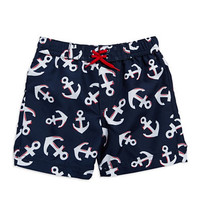 Kids' | Newborn Boys 0-9 Months | Baby Boys Baby Boys Anchor Patterned Swim Trunks | Lord and Taylor