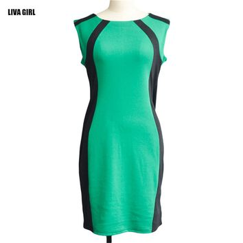 2016 New Summer Women Dress Sexy Slim Pencil Dress Casual Sleeveless O-neck Women Clothing Elegant Femininas Business Vestidos