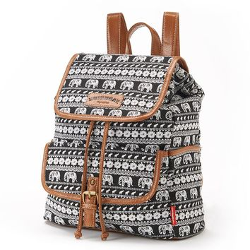 Unionbay Aztec Elephants Mini Backpack