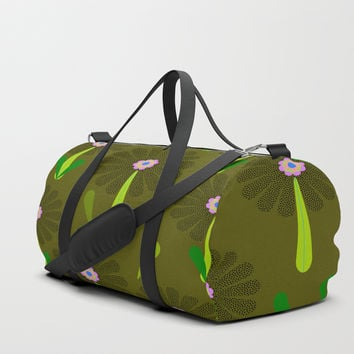 zappwaits Flower Duffle Bag by netzauge