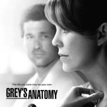 Greys Anatomy Poster Standup 4inx6in black and white