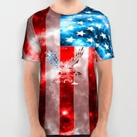 Amercian Sprirt All Over Print Shirt by Nate4D7