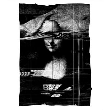 Mona Lisa Glitch Blanket