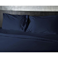 ComfortLiving Carlyle 1600 Thread Count 3-Piece Sheet Set Twin - Navy