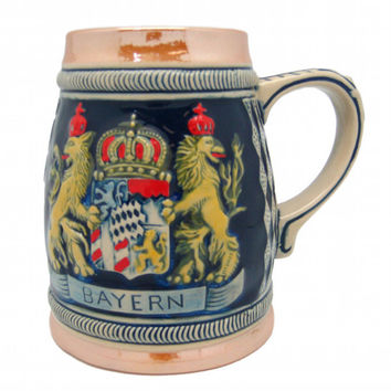 Oktoberfest Beer Stein Bayern Coat of Arms