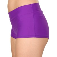 Purple Solid Color Booty Shorts
