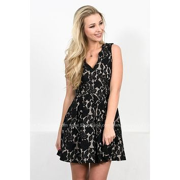 Lucy Black Lace Dress