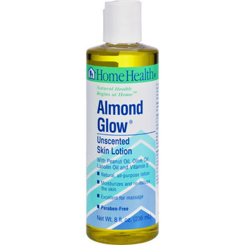 Home Health Almond Glow Skin Lotion Unscented - 8 Fl Oz