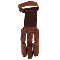 Archery Protect Glove 3 Fingers Pull Bow arrow Leather Shooting Gloves New Arrival