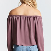 Chiffon Off-the-Shoulder Top