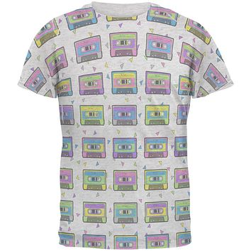 Retro Cassette Tape Pattern Men's Soft T-Shirt