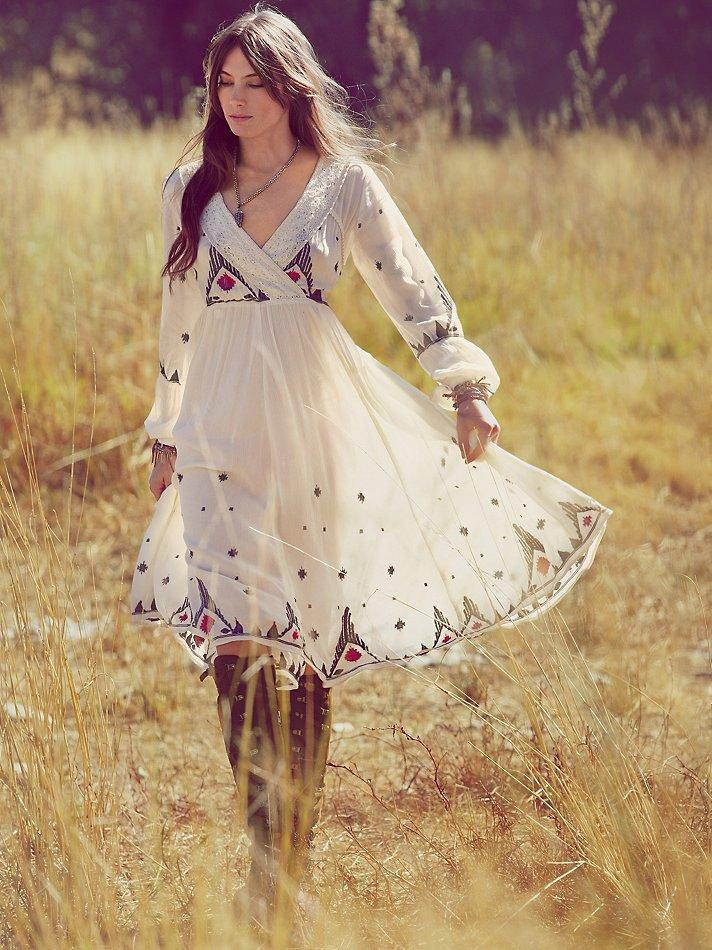 Free People FP New Romantics Splendor in the Grass Embroidered Dress