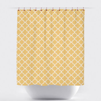 Yellow Moroccan Shower Curtain