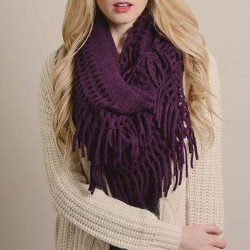 CREYHT3 Perfect Fringe Infinity Scarf