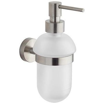BA Tecnohotel Wall Frosted Glass Pump Soap Lotion Dispenser for Bathroom