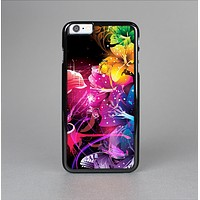 The Abstract Bright Neon Floral Skin-Sert for the Apple iPhone 6 Skin-Sert Case