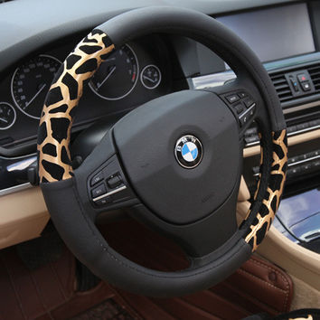 leopard print cover steering wheel accessories auto upholstery supplies