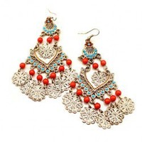 Retro Beads Cascade Drop Earrings