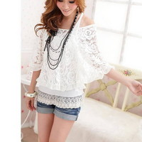 2 Piece Lace and Tank Blouse