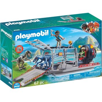 Playmobil 9433 Enemy Airboat with Raptors