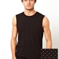 ASOS Vest With All Over Spot And Star Print at asos.com