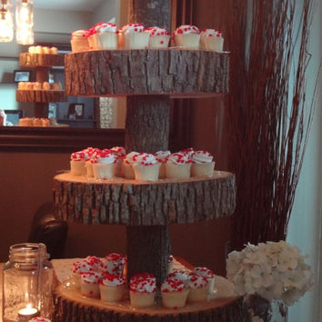 Wooden Cupcake Stand Wedding Wooden Cake stand