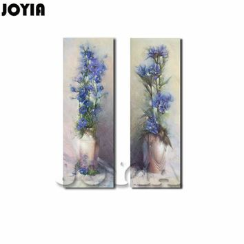 90cm Large Abstract Canvas Paintings Vintage Flower Vase Upscale Wall Decor Painting Bedroom Drawing Room Print Picture NO FRAME