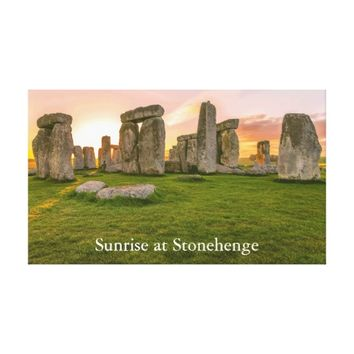Personlized Legendary Stonehenge at Sunrise Canvas Print