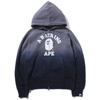COLLEGE GRADATION FULL ZIP HOODIE