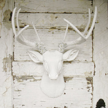Deer head,Faux taxidermy,Deer head wall mount,Faux deer decor,Faux deer home decor,Faux deer wall mount,Faux Animal Head,Faux Deer Head