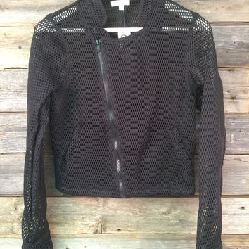 FISH NET JACKET - BLACK