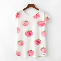 Kawaii Print T-shirt