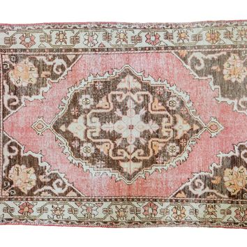 4.5x6.5 Distressed Oushak Rug