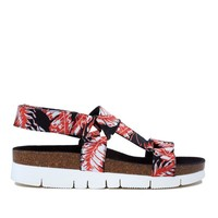 PALM SATIN CROSS STRAP SANDAL