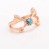 Retro Free combination ring set Double arrow model