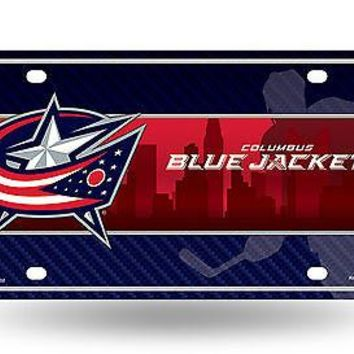 Columbus Blue Jackets New City Design 9702 Metal License Plate Tag Hockey