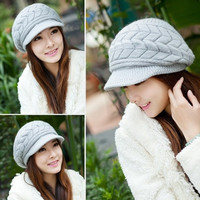 Casual Beanie Thickening Thermal knitted hat women's rabbit fur cap Hats for women Winter hat Beanies = 1932539780