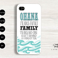 "iPhone 5/5s, 5c, 4/4s & Samsung Galaxy S4, S3 Cases | Disney / Lilo and Stitch / ""Ohana means family."" iPhone 5 Case"