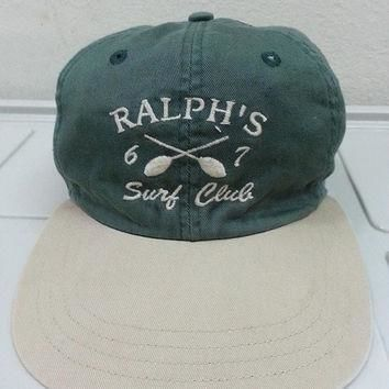 Sale RARE Vintage 1990s Polo Sport Ralph Lauren 67 Surf Club Cap Hat