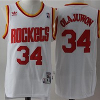 Houston Rockets #34 Hakeem Olajuwon Retro Swingman Jersey