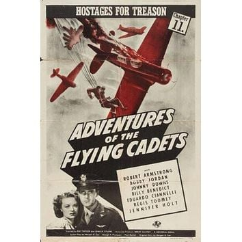 Adventures Of The Flying Cadets Movie poster Metal Sign Wall Art 8in x 12in