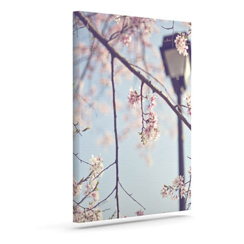 "Catherine McDonald ""Walk with Me"" Cherry Blossom Outdoor Canvas Wall Art"